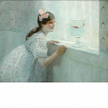 Marguerite Anne Rose Delorme French, 1876-1946 Les Poissons Rouges (The Goldfish)