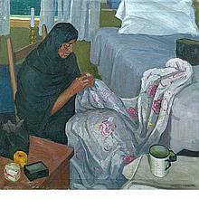 Frederick Frary Fursman American, 1874-1943 New Mexican Woman Sewing