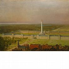 Manner of Albert Bierstadt Architectural Fantasy
