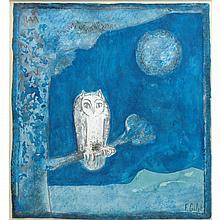 Francoise Gilot French, b. 1921 Chouette au Clair de Lune (Owl in the Moonlight), 1964