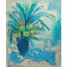 Byron Browne American, 1907-1961 Still Life of Flowers in a Jug, 1956