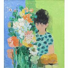 Noe Canjura French, 1922-1970 Fille au Bouquet