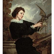 Attributed to Thomas Couture The Falconer