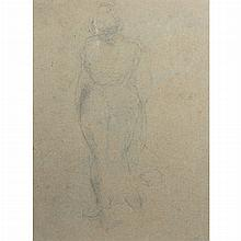 Aristide Maillol French, 1861-1944 Standing Female Nude