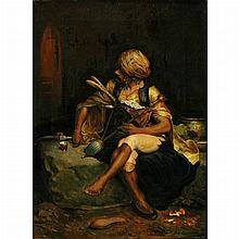 Johann Klepinski Polish, 1872-circa 1927 A Bashi-Bazouk   Signed J. Klepinski (lr) Oil on canvas 1...