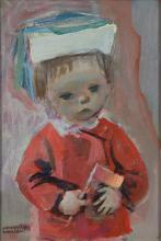 Raymond Kanelba Polish/American, 1897-1960 Hubert with Flag