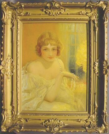 Albert Matignon French, 1860-1937 STRING OF PEARLS