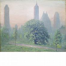 Johann Berthelsen American, 1883-1972 Morning in Central Park