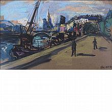 Arbit Blatas Lithuanian, 1908-1999 (i) Along the Seine (ii) Boats along the River