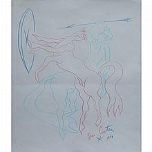Jean Cocteau French, 1889-1963 Les Centaures, 1958