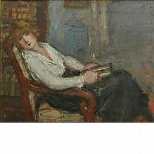 Georges d'Espagnat French, 1870-1950 La Liseuse (The Reader)