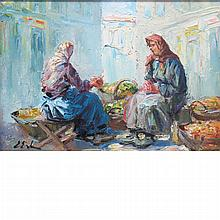 Erno Erb Polish, 1878-1943 Women at the Market