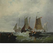 European School 19th Century Ships at Sea
