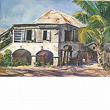 Andrew George Winter American, 1893-1958 Corner House, St. Croix, 1937