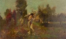 John Grabach American, 1886-1981 Nymph in a Landscape