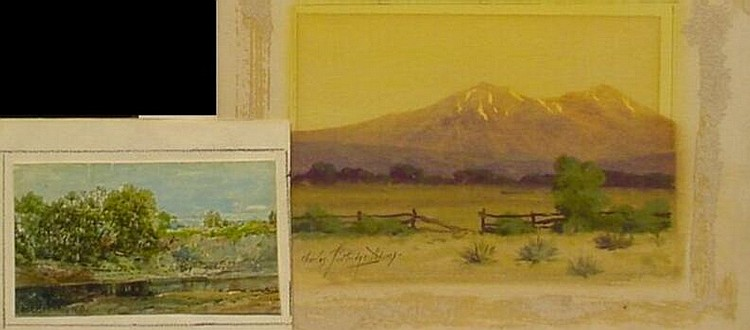 (i) Charles Partridge Adams American, 1858-1942 WESTERN LANDSCAPE and (ii) W.L. Sonntag American, 1822-1900 RIVERBED: TWO