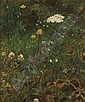 Henry Mosler American, 1841-1920 Study of a Meadow with Wildflowers, Henry Mosler, Click for value