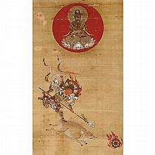 Japanese School  19th Century Hanging scroll