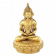 Mongolian Gilt-Bronze Tara