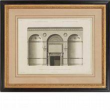 After Robert Adam (1728-1792) [ARCHITECTURE STUDIES] Six engravings