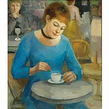 Madeleine Avril French, b. 1954 Tea Time