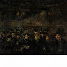 Manner of Honore Daumier 19th/20th Century Theater Goers