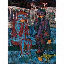 John Altoon American, 1925-1969 Orange Eaters, 1953