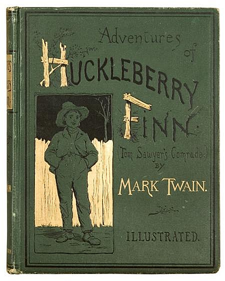 the portrayal of the conflicts in the society in adventures of huckleberry finn