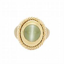 Gentleman's Gold and Cat's Eye Chrysoberyl Ring