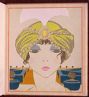 Georges Lepape French 1887-1971 LES CHOSES DE PAUL POIRET VUES PAR GEORGES LEPAPE, 1911 Album with original preparatory and underdra