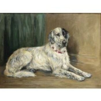 Marion Roger Hamilton Harvey British, 1886-1971 'RAB', PORTRAIT OF AN ENGLISH SETTER Signed Marion Harvey (ll) Oil on canvas 20 x 26 1/2 inches. (51 x 67 cm.)
