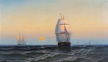 George Emerick Essig American, 1838-1926 Off Martha's Vineyard, 1877