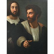 After Raphael Self-Portrait with a Friend