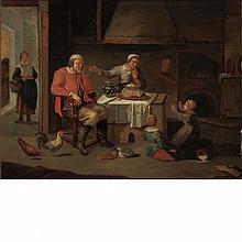 Circle of David Ryckaert 17th Century Asleep at the Table