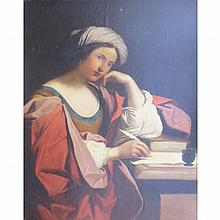 After Guercino The Persian Sibyl