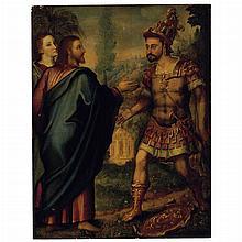 Flemish School 16th Century Christ and the Centurion