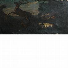 Flemish School 17th Century Stag Hunt