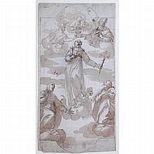 Attributed to Giovanni Romanelli The Apotheosis of Saint Francis Xavier