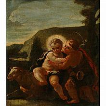 Circle of Francesco Solimena Christ and John the Baptist