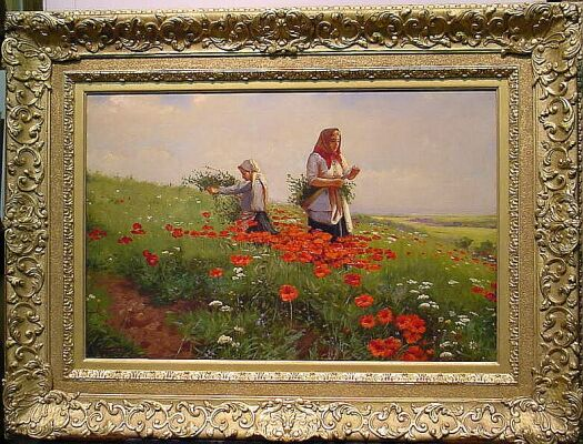 Joseph Tomanek 1889-1974 POPPY FIELDS