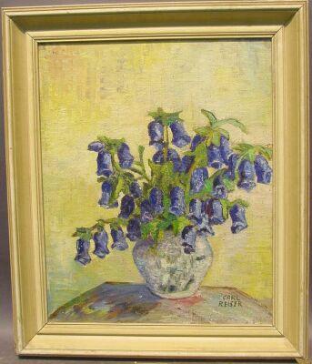 Carl Reiser German, 1877-1950 FLORAL STILL LIFE WITH BLUEBELLS