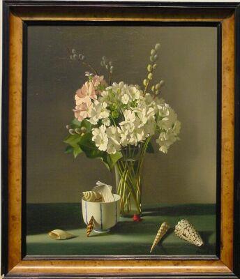 Fernand Renard French, 20th century WHITE PRIMROSES #16