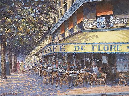 Willem Heytman Dutch, b. 1950 Cafe de Flore, Boulevard St. Germain