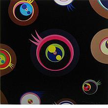 Takashi Murakami Japanese, b. 1962 Jellyfish Eyes - Black 1, 2004/2012