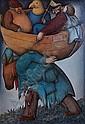 Nelson Romero Uruguayan, b. 1951 Paseo de Tres Notables, 1985, Nelson Romero, Click for value