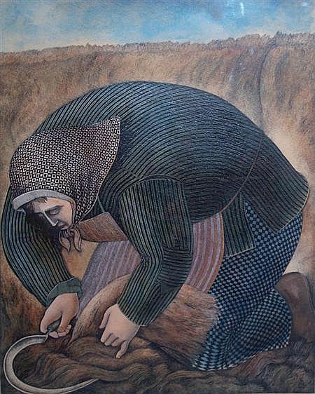 Nelson Romero Uruguayan, b. 1951 Campesina Segando, 1983