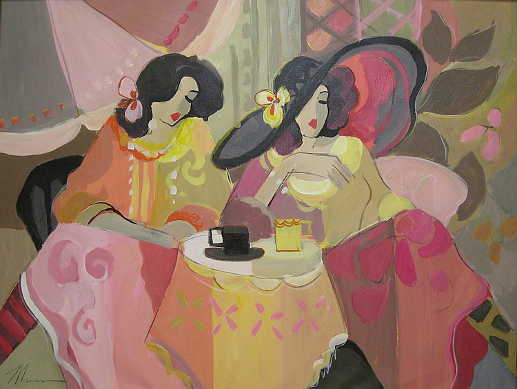 Isaac Maimon Israeli/French, b. 1951 Tea and Conversation