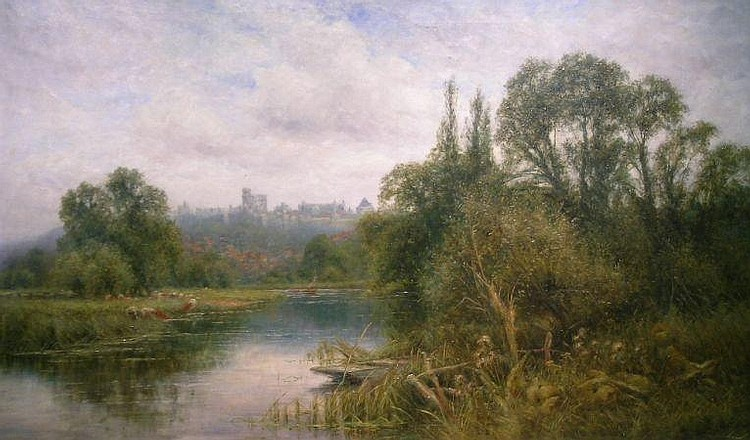 Henry John Kinnaird British, 19th/20th century VIEW OF WINDSOR CASTLE FROM THE THAMES