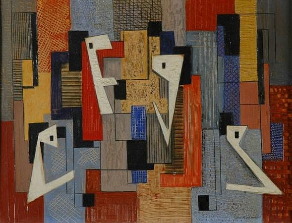 Irene Rice Pereira American, 1907-1971 ABSTRACT COMPOSITION