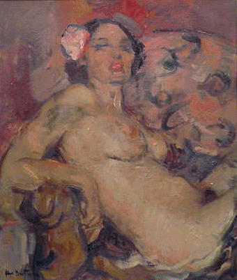 Abel Bertram French, 1971 - 1954 RECLINING NUDE
